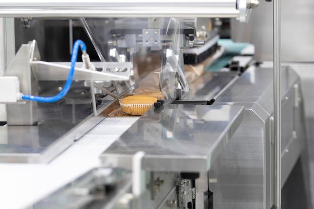 カップケーキ包装機、食品工業用