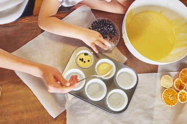Cupcake shape and dough