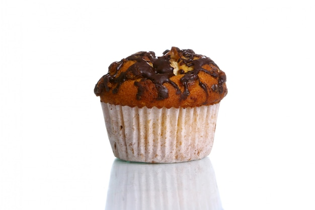 Cupcake with grated chocolate