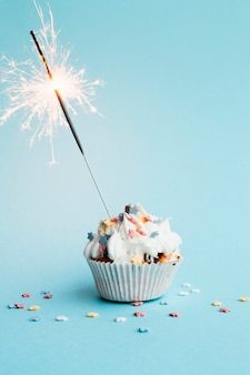 Cupcake with small firework in it