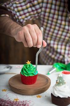 Cupcakes for christmas