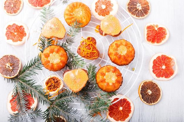 Cupcakes muffins orange baking