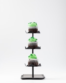 Cupcakes with green creme