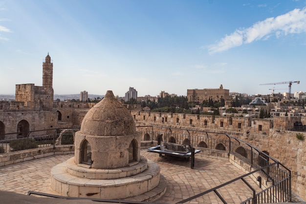 The cupola in the middle of the roof of the church of holy sepulchre, admits light to st helena s crypt and dome ethiopian monastery in jerusalem, israel.