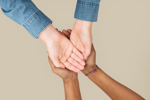 Жест рукой для кампании по защите окружающей среды
