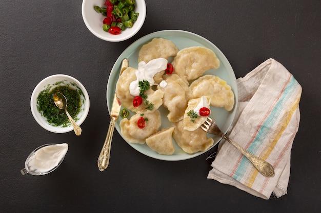 カード、料理、中華、スープ、蒸し、鶏肉、トルコ料理。