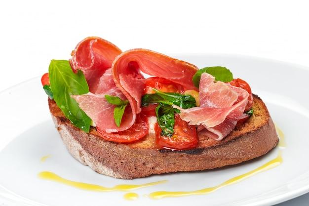 Cured ham, spanish appetizer.