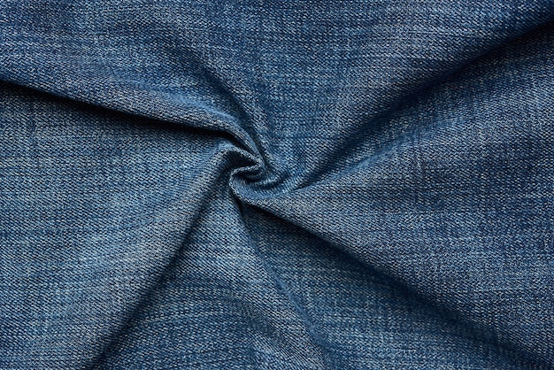 Curled blue jeans texture