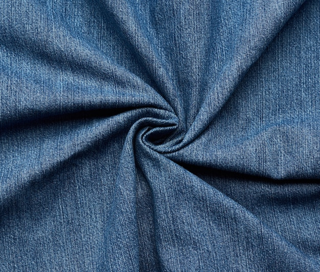 Curled jeans fabric texture
