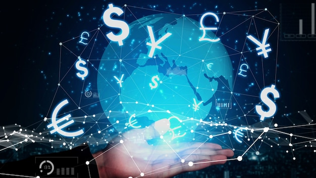 Currency exchange global foreign money finance conceptual