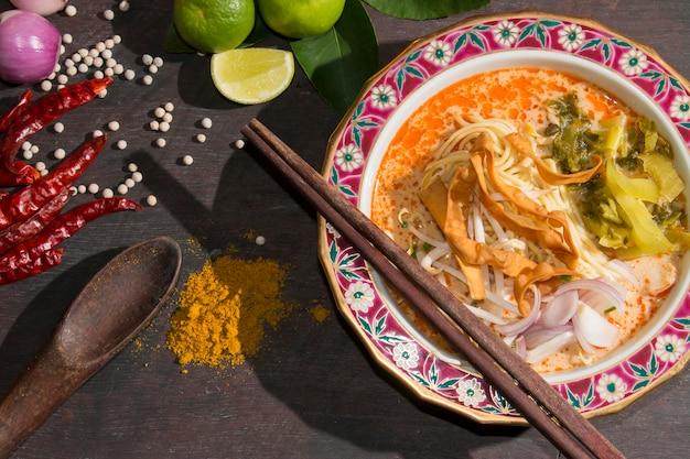 Curried noodle soup