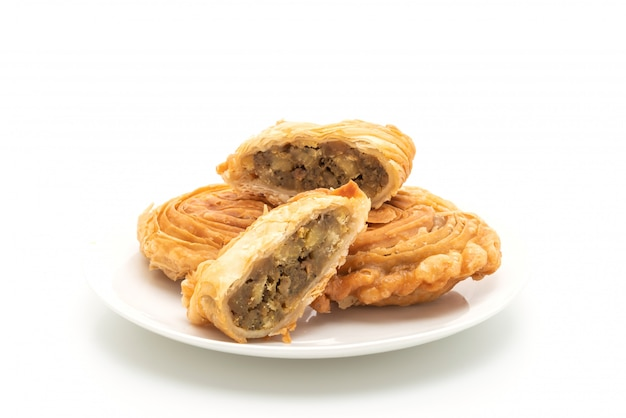 Curry puff pastry isolated