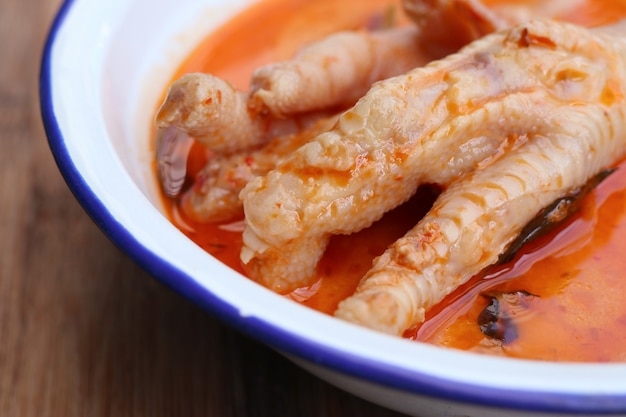 Curry with chicken feet