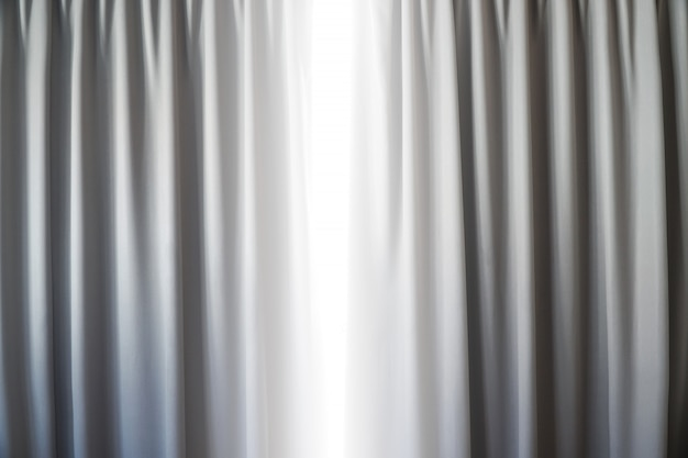Curtain interior decoration in living room with sunlight on the window background