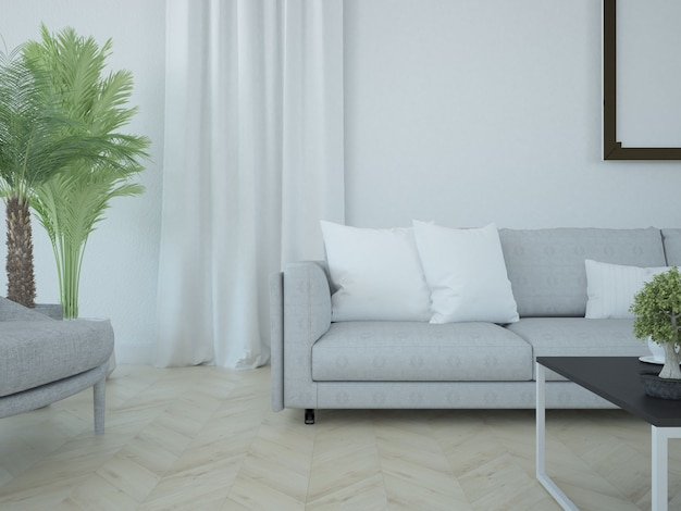 Curtain and pillows scene closeup