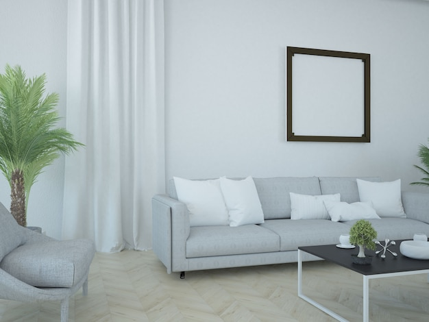 Curtain and pillows scene