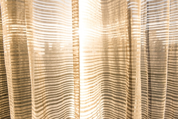 Curtain and sunny morning
