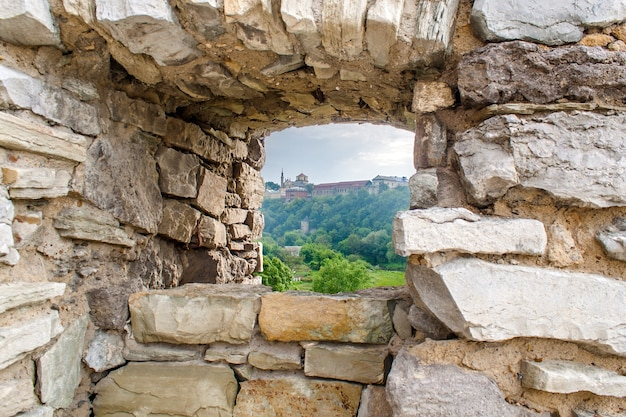 Curtain wall at kamyanets-podilsky fortress in ukraine