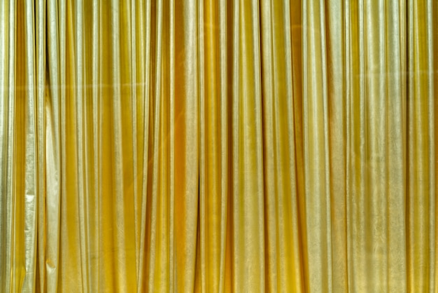 Curtains made of shiny material