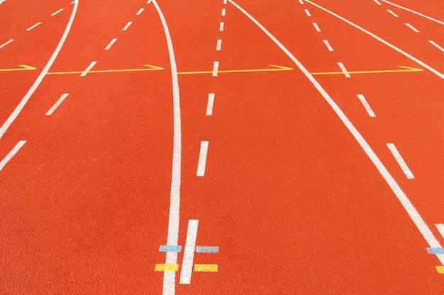 Кривая беговая дорожка Premium Фотографии