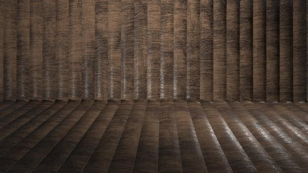 湾曲した木製の背景