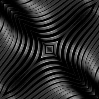 金属格子の曲線、鋼の光沢、金属接続要素の抽象的な背景