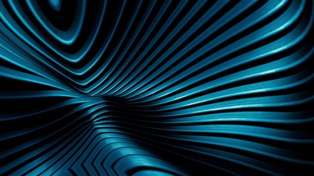 금속 격자의 곡선, 강철 광택, 금속 연결 요소의 추상적 배경