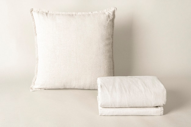 Cushion cover, bed linen in natural fabric