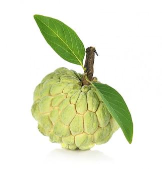 Заварной крем яблоко изолирован, аннона
