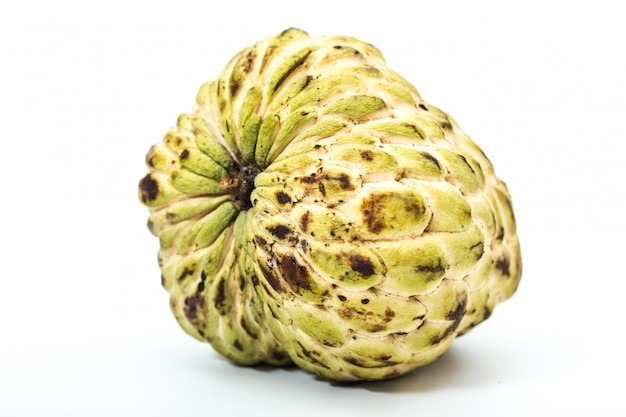 Custard apple on white isolated