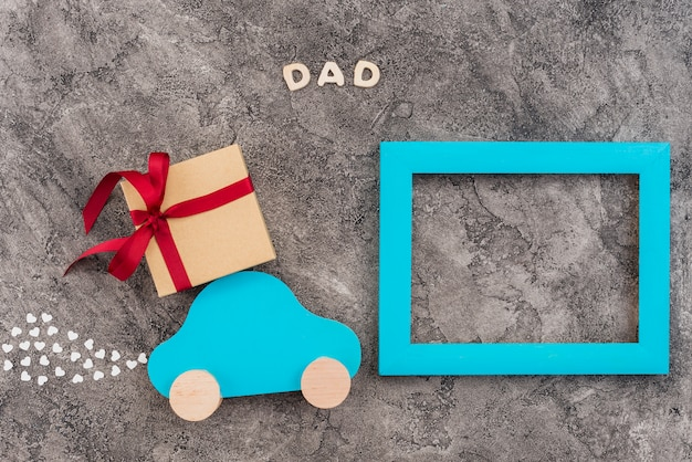 Custom frame decorated for father`s day