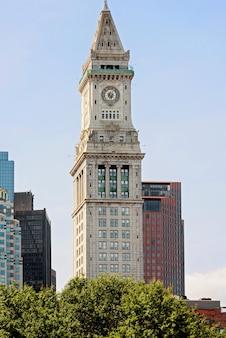 보스턴의 커스텀 하우스 타워