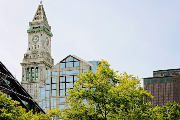 Башня custom house в бостоне