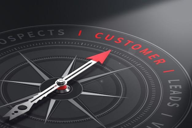 Бизнес-концепция клиента 3d иллюстрация