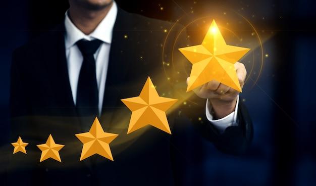Customer review satisfaction feedback survey concept. Premium Photo