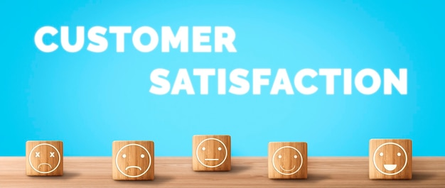 Customer review satisfaction feedback survey concept