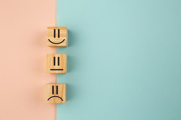 Customer satisfaction survey concept, copy space.
