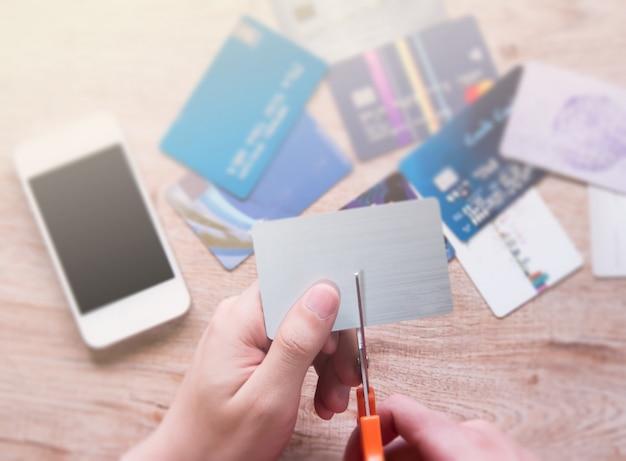 Cut credit card.