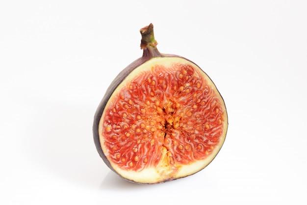 Cut figs on a white