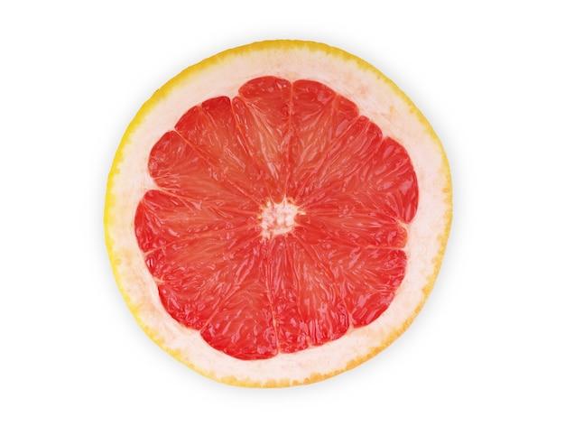 分離されたグレープフルーツ柑橘類をカット