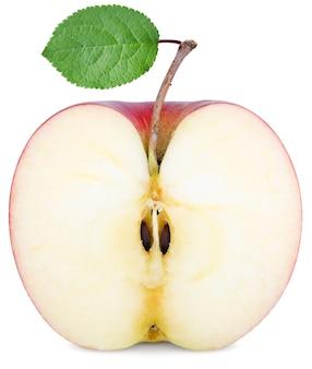 リンゴを半分に切る