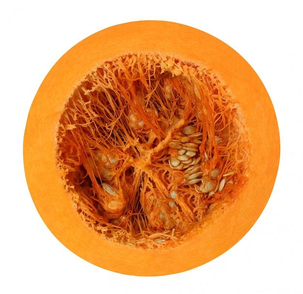 Cut pumpkin isolated