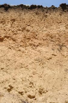 Cut of soil layers