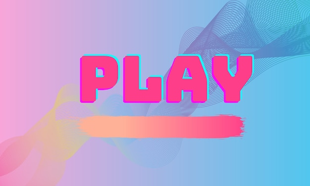 最小限のピンクブルーの背景を持つかわいい抽象的な美しい再生ボタン