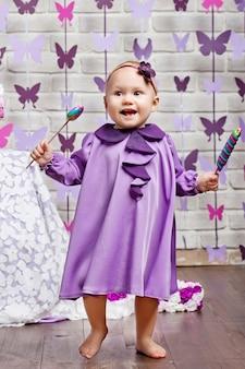 다채로운 캔디와 귀여운 딸