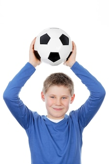 サッカーボールを持っているかわいい男の子