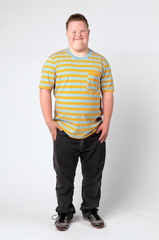 Cute boy with down syndrome