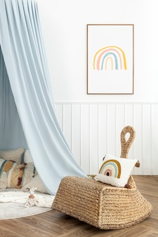 Cute and bright kids play room