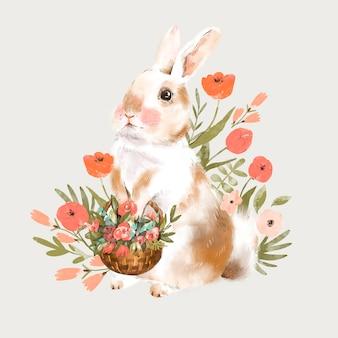 귀여운 토끼 그림
