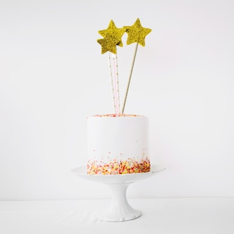 Cute cake decorated with stars